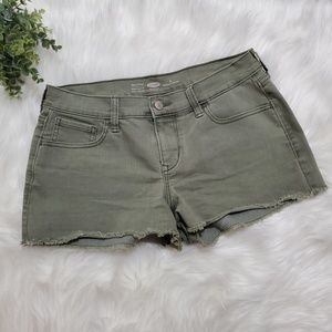 Old Navy, Navy Green semi fitted shorts